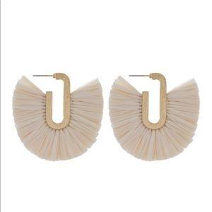 Raffia Fanned Tassel Earrings